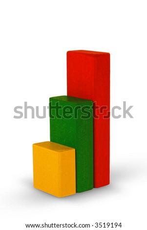 Diagram made from children's blocks. - stock photo