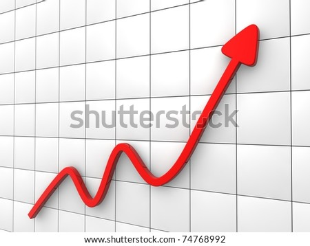 Diagram of business success - stock photo