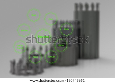 diagram of business success chart as concept - stock photo