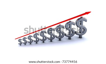 diagram of business success isolated with clipping path - stock photo