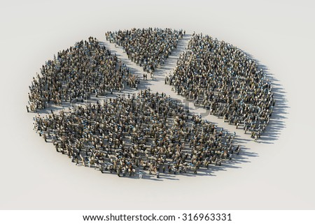 diagram of crowds - stock photo