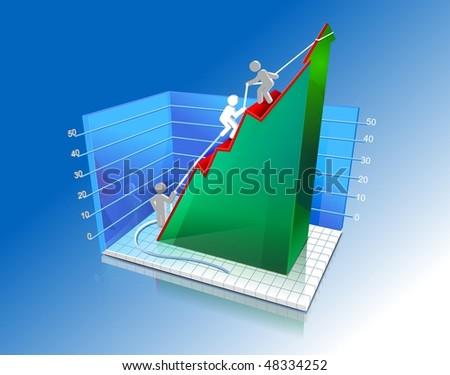 Diagram Of Growth - stock photo