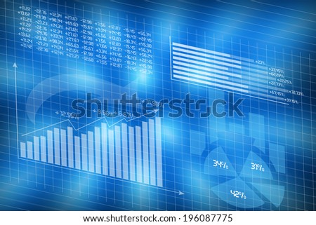 Diagrams charts illustrate statistics concept - stock photo