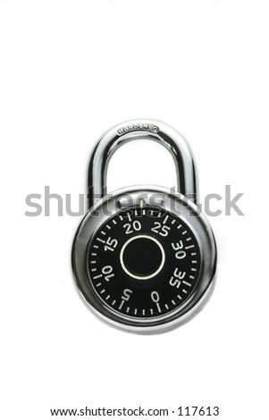 dial lock, closed