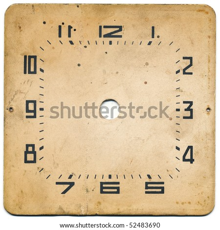 Dial of an old watch - stock photo