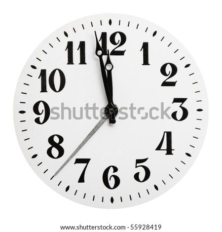 Dial of analog hours. It is isolated on a white background