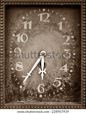 dial old clock - stock photo