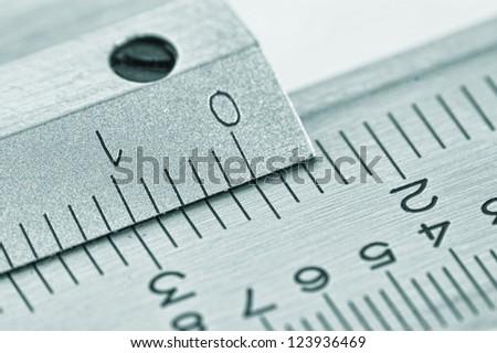 dial vernier calipers macro - stock photo