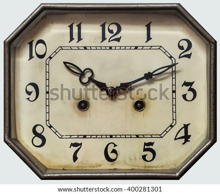 dial vintage antique clock with pendulum - stock photo