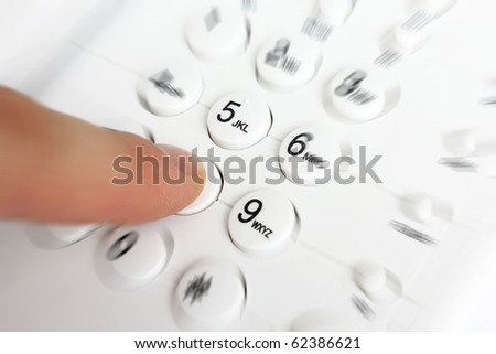 Dialing - stock photo
