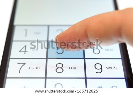 dialing on touchscreen smart phone