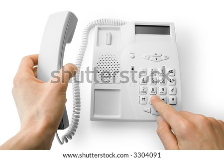 dialing the number on the phone