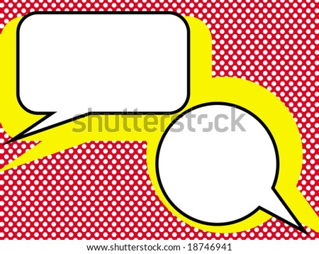 Dialog in pop-art style. - stock photo