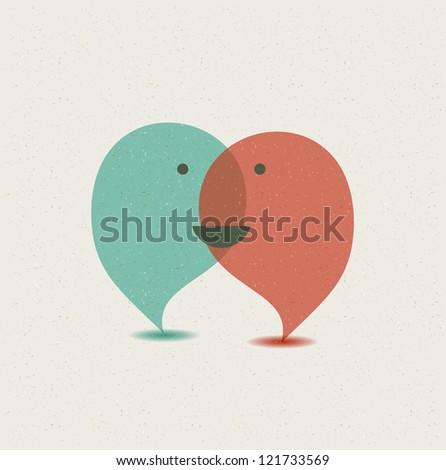 Dialog speech bubbles. - stock photo
