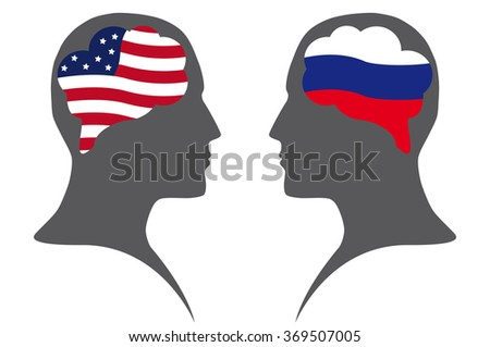 Dialogue  between USA and Russian Federation - stock photo