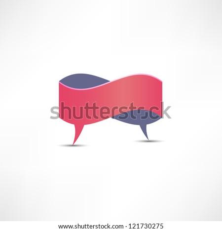 Dialogue Speech bubble - stock photo