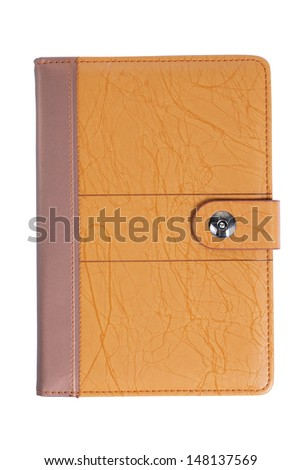 Dialy notebook with clipping path - stock photo