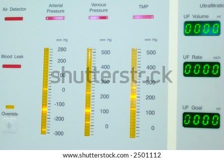 dialysis (blood purification) machine monitor - stock photo