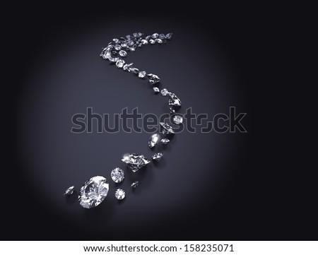 Diamond background - stock photo