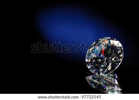 Diamond blue background - stock photo