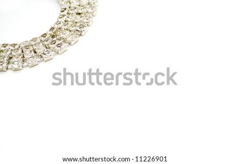 diamond bracelet background - stock photo