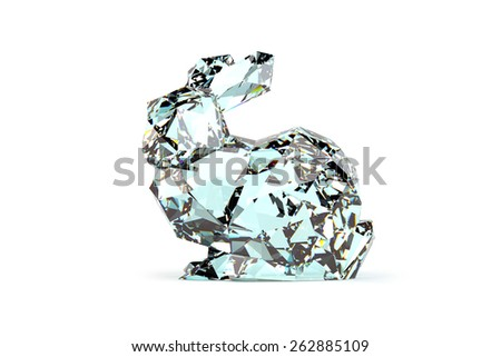 Diamond Bunny - stock photo