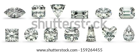 Diamond Cuts - stock photo