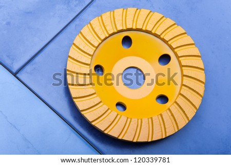 Diamond disk for a concrete abrasion - stock photo