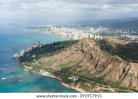 Diamond Head, Oahu, Hawaii. - stock photo