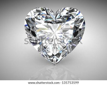 diamond . High quality 3d render with HDRI lighting - stock photo