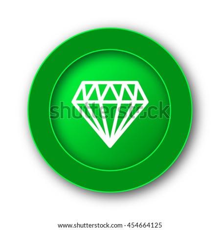 Diamond icon. Internet button on white background. - stock photo