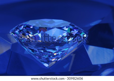 Diamond in blue light#1