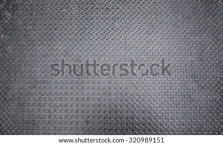 diamond iron plate texture as a background - stock photo