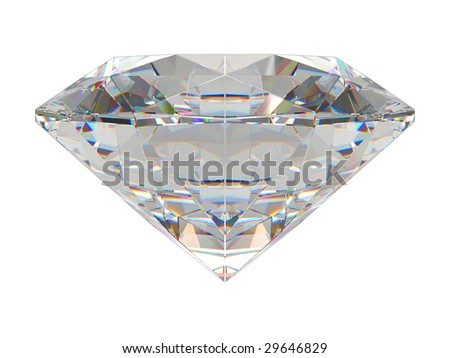 Diamond isolated on white background