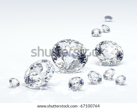 Diamond jewel isolated - stock photo