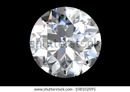 diamond jewel on black background