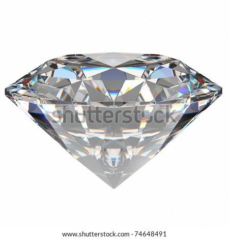 diamond jewel on white background. - stock photo