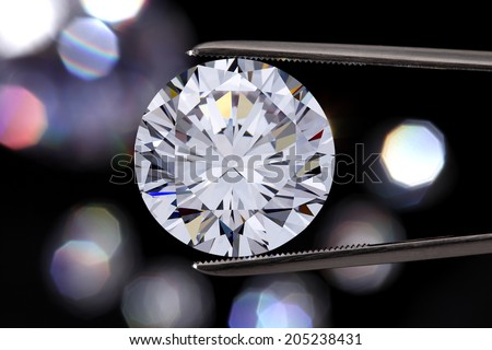 Diamond jewelry holding - stock photo