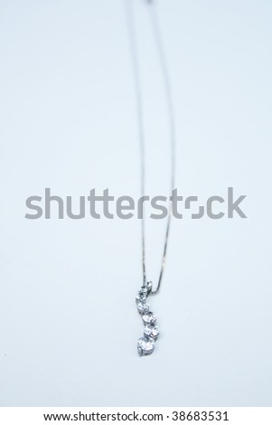 Diamond necklace - stock photo