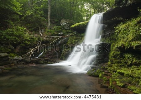 Diamond Notch Water Falls - stock photo