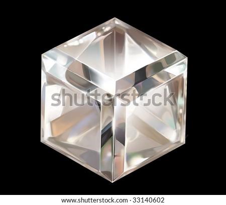 Diamond on a black background - stock photo