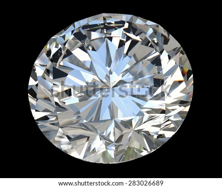 diamond on black background with high quality