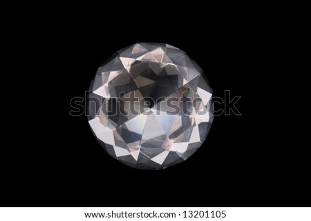 diamond on the black background