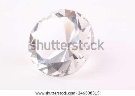 diamond on white background - stock photo