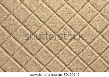 Diamond Pattern in Sand - stock photo