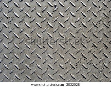 diamond plate - stock photo