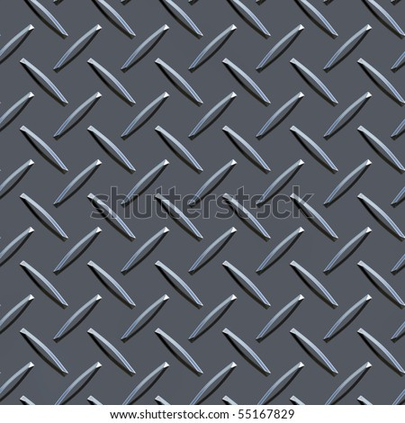Diamond plate background - stock photo