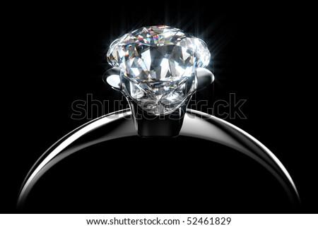 Diamond Ring 2 - stock photo