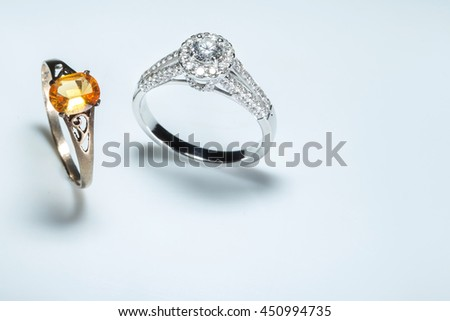 diamond ring and Otter ring
