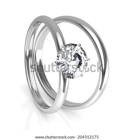 Diamond rings - stock photo